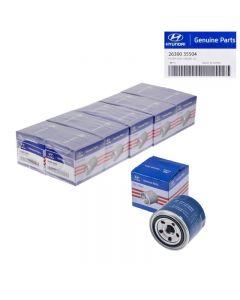 Set Of 10 Genuine OEM 26300-35504 Oil Filter For Hyundai Accent Elantra 72-16