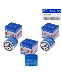 Set Of 3 Genuine OEM 26300-35504 Oil Filter For Hyundai Accent Elantra 72-16