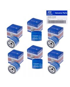 Set Of 6 Genuine OEM 26300-35504 Oil Filter For Hyundai Accent Elantra 72-16