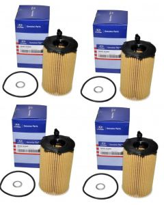 Set of 4 Hyundai/KIA Engine Oil Filter 26320-3CAA0 For Hyundai Kia Azera 10-14