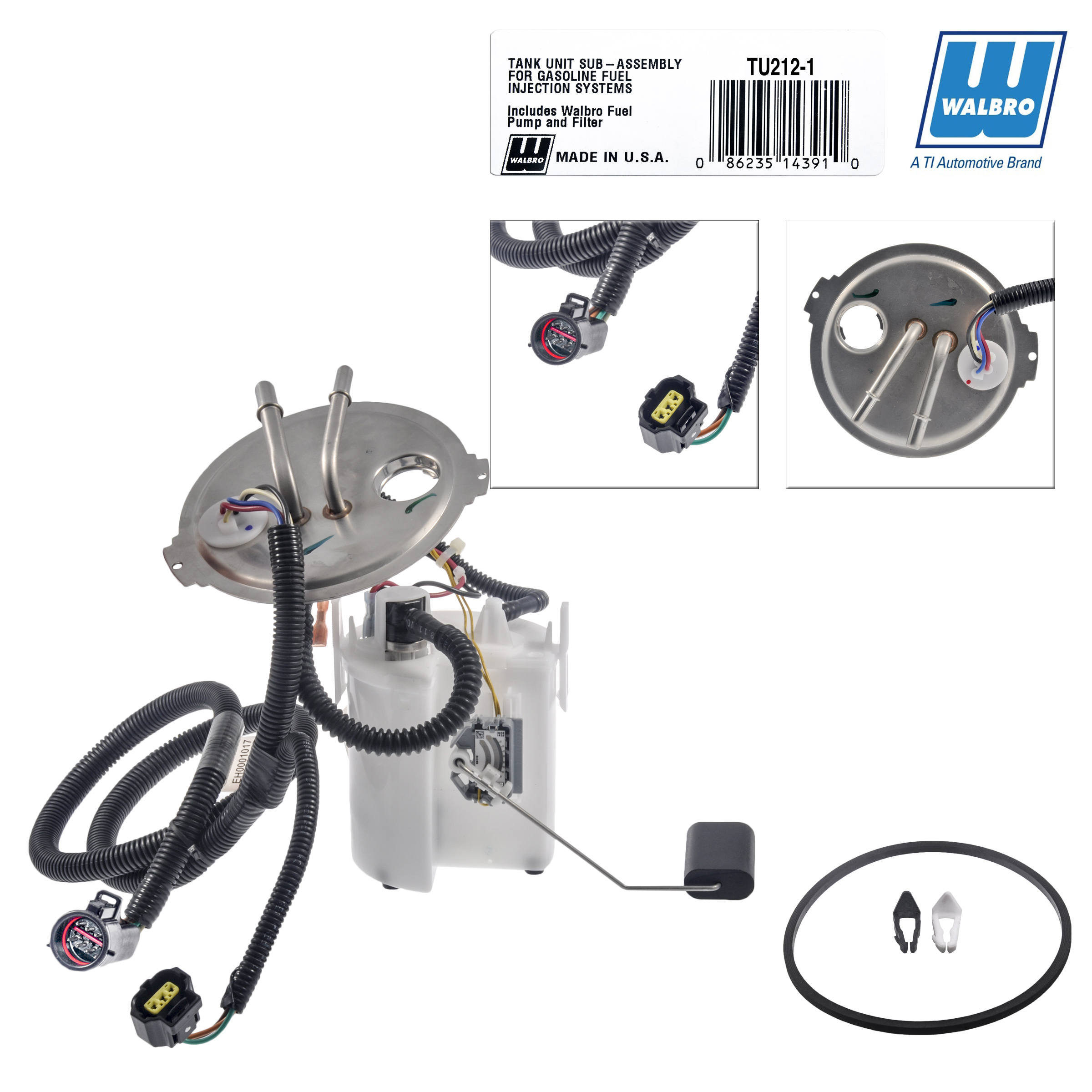 New Walbro High Performance Fuel Pump Module Assembly TU212