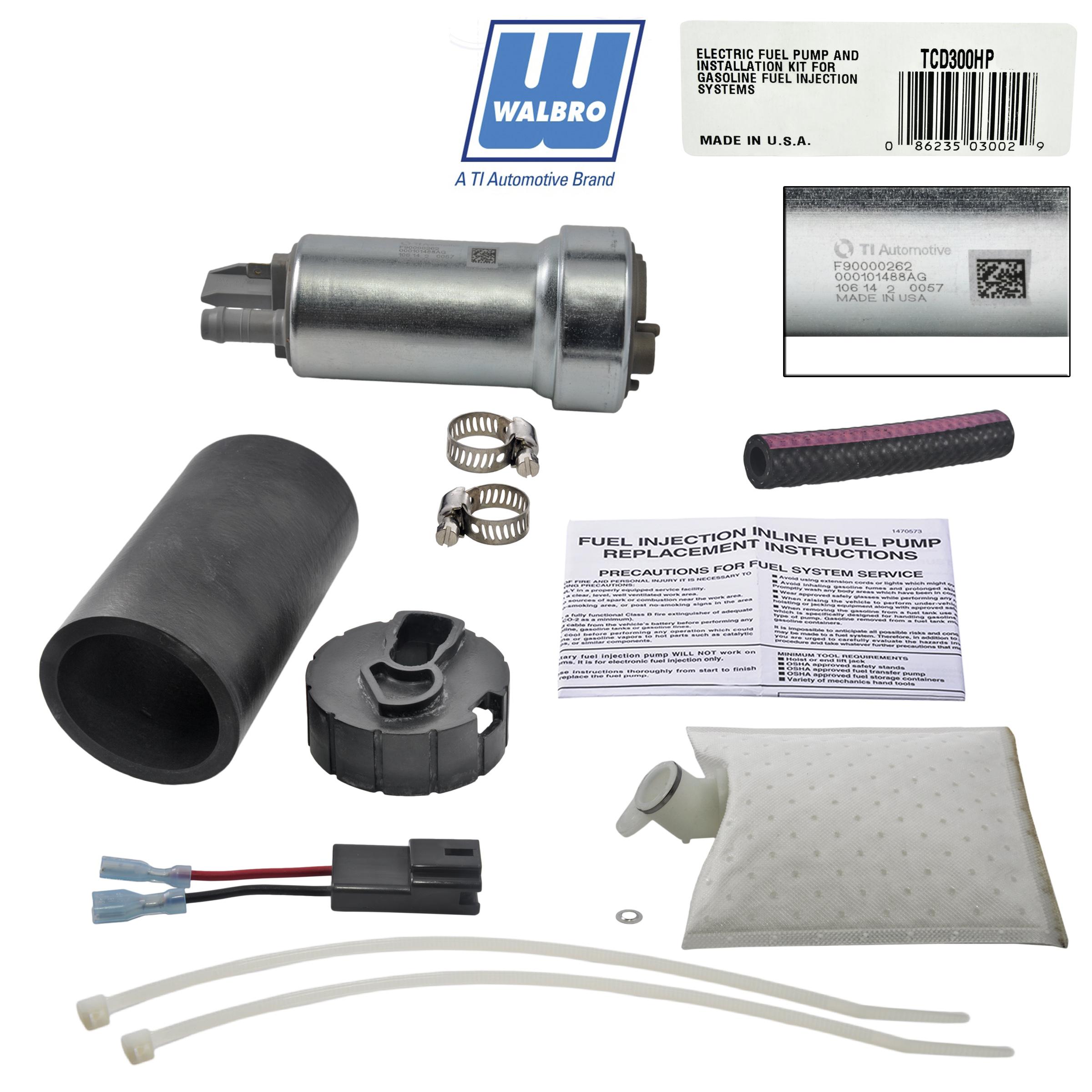 New Walbro 400lph 500hp High Pressure Racing Intank E85 Fuel Pump Electric Installation Instructions Description