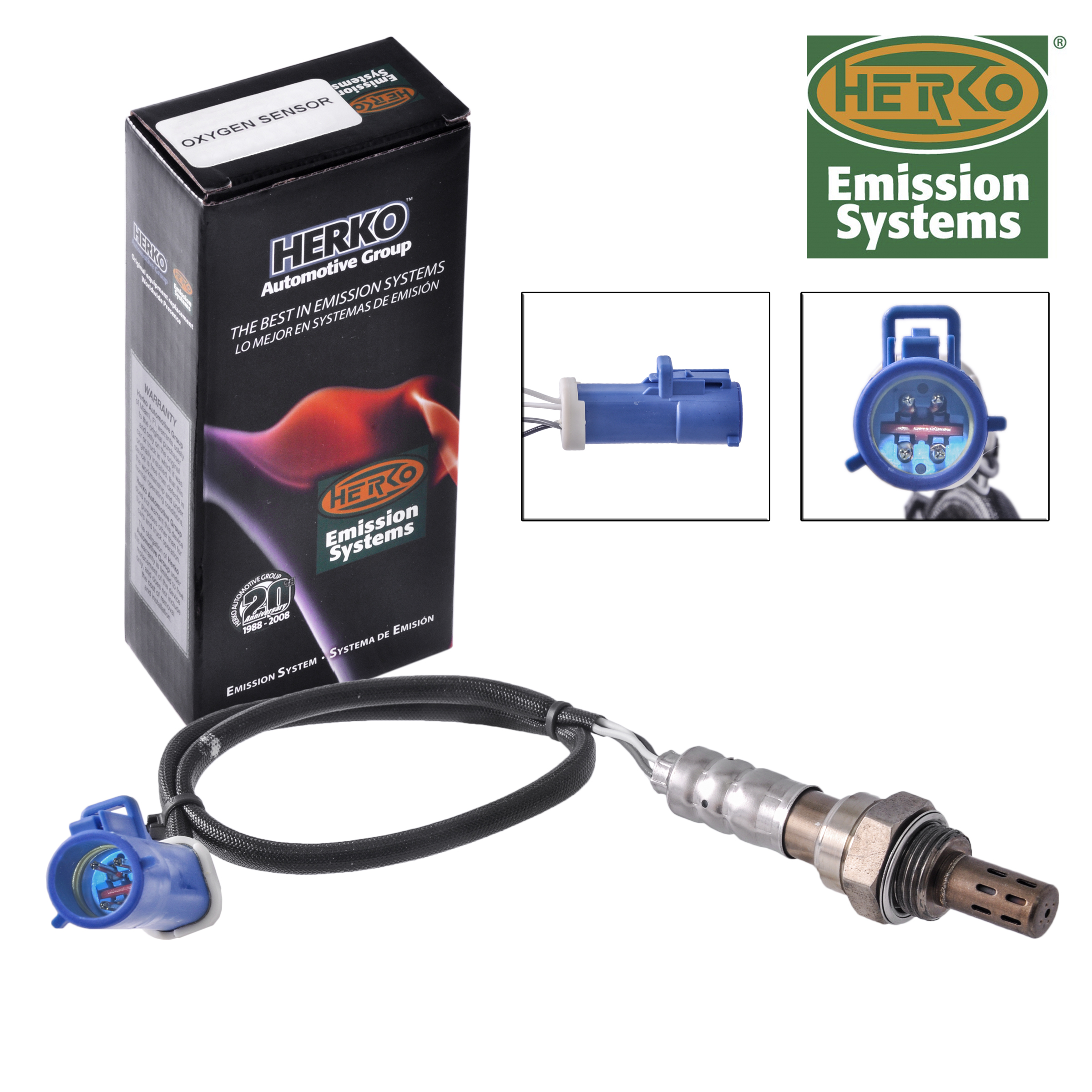 New Herko HK38 Oxygen Sensor For Volkwagen 1990-1996 Wires 3